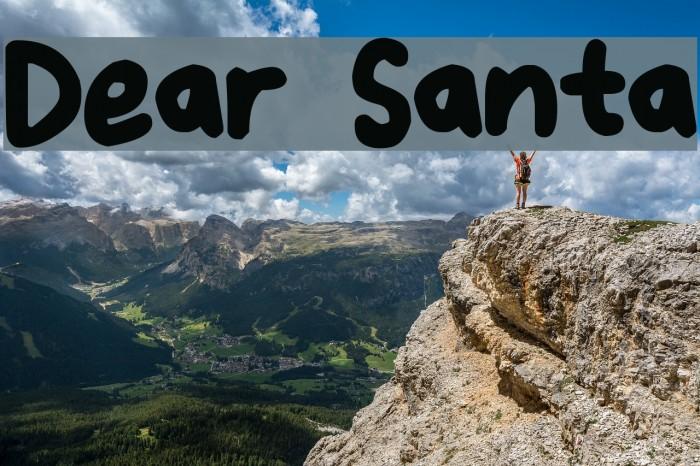 Dear Santa Шрифта examples