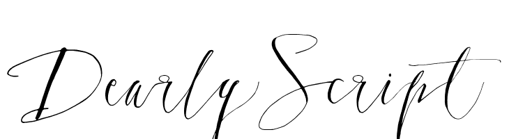 DearlyScript  font caratteri gratis