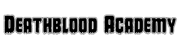 Deathblood Academy  Free Fonts Download