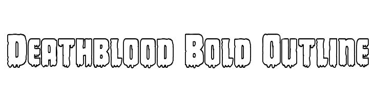 Deathblood Bold Outline  Free Fonts Download
