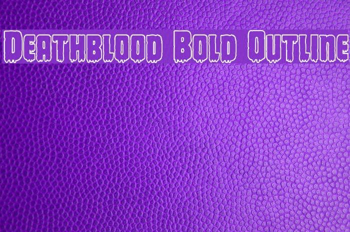 Deathblood Bold Outline Font examples