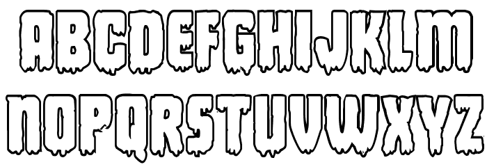 Deathblood Bold Outline Font LOWERCASE