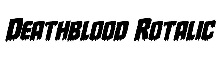 Deathblood Rotalic  baixar fontes gratis