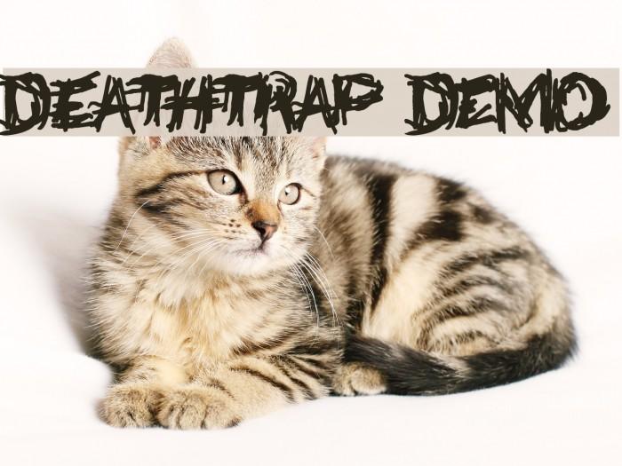 Deathtrap DEMO Font examples