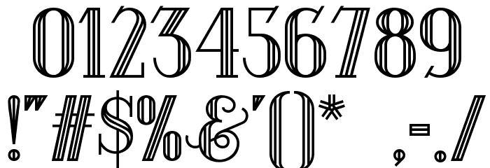 Debonair Inline NF Font OTHER CHARS