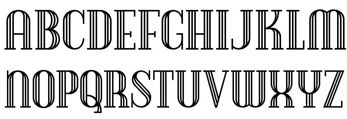 Debonair Inline NF Font UPPERCASE