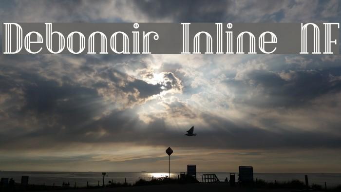Debonair Inline NF Font examples