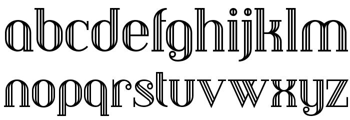 Debonair Inline NF Font LOWERCASE