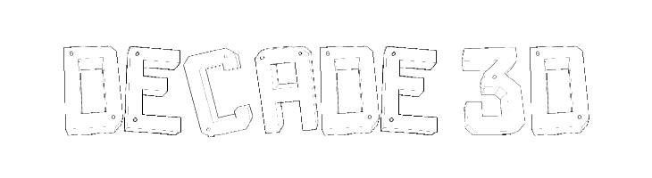 Decade 3d  Free Fonts Download