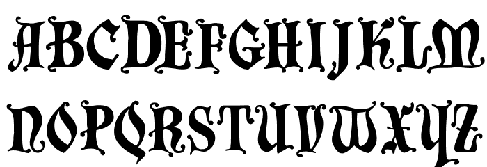 DecadentaFrax Font UPPERCASE