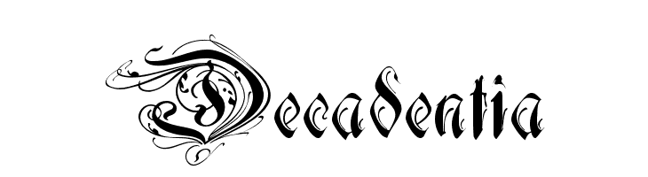 Decadentia  Free Fonts Download