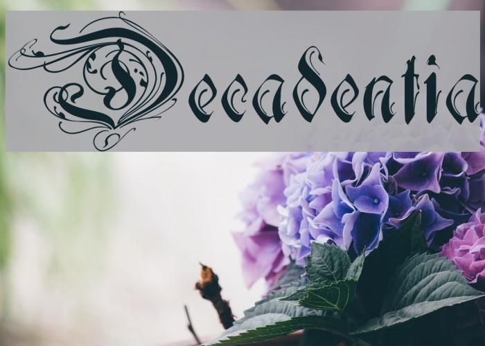 Decadentia Font examples