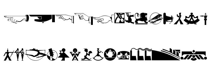 DecoDingbats1 Font UPPERCASE