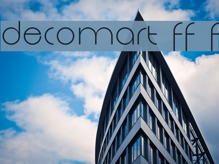 Decomart FF 4F Fonte examples