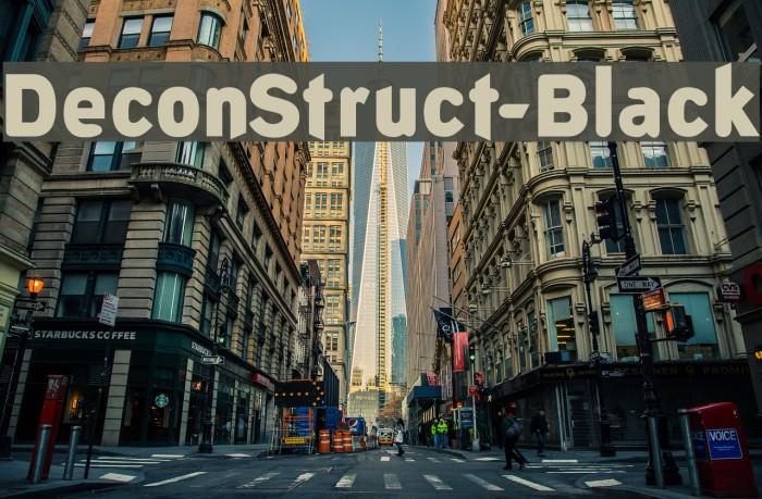 DeconStruct-Black Font examples