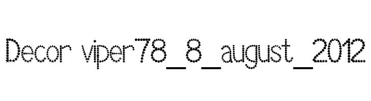 Decor viper78_8_august_2012  Скачать бесплатные шрифты