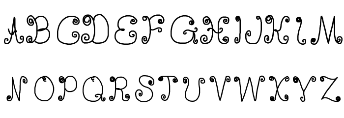 DeeDeeScribble Font UPPERCASE