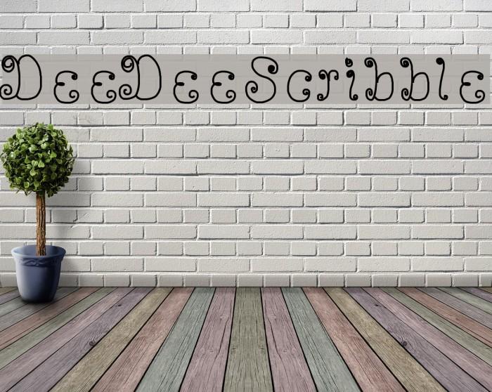 DeeDeeScribble Font examples