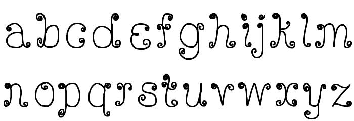DeeDeeScribble Font LOWERCASE