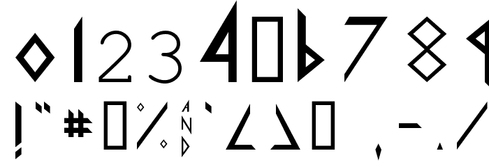 Def Leppard Font OTHER CHARS