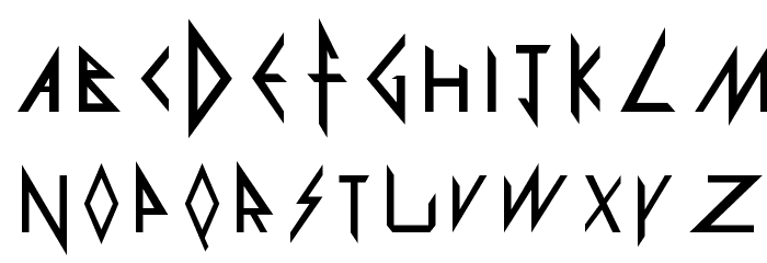 Def Leppard Font LOWERCASE