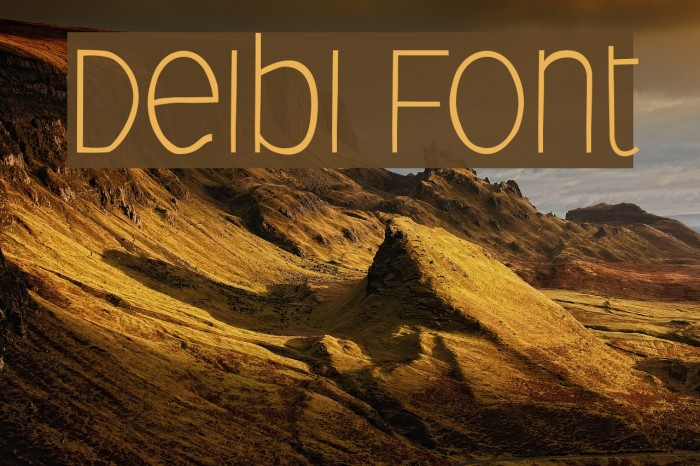 Deibi फ़ॉन्ट examples