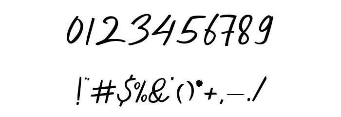 Dekade Regular フォント その他の文字