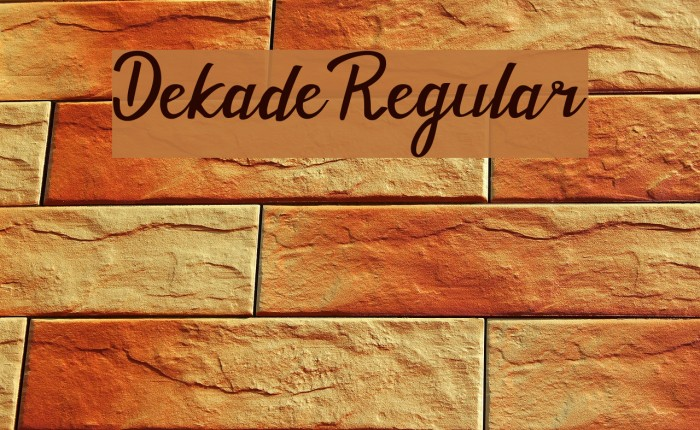 Dekade Regular フォント examples