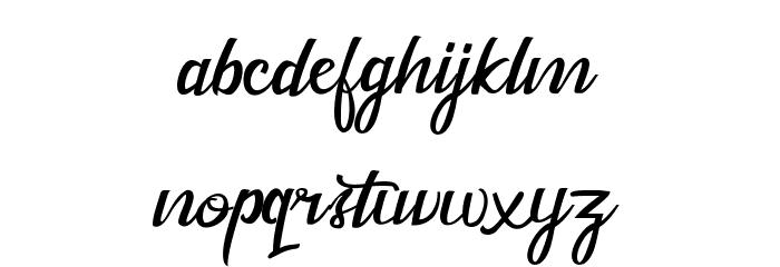 Dekade Regular フォント 小文字