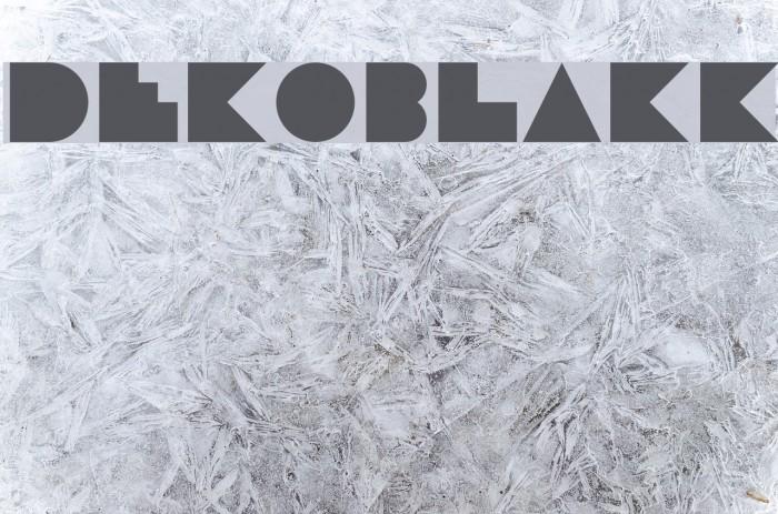 DekoBlakk Font examples