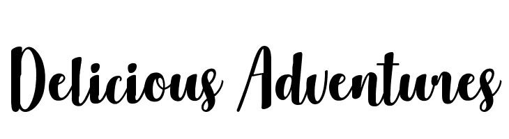 Delicious Adventures  Free Fonts Download