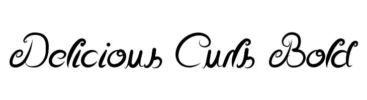 Delicious Curls Bold  Скачать бесплатные шрифты
