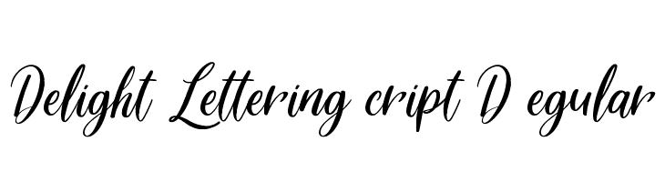 Delight Lettering Script DEMO Regular  Скачать бесплатные шрифты