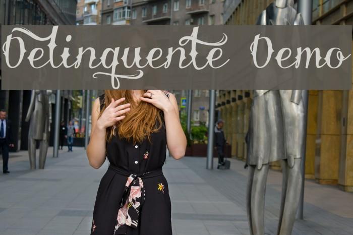 Delinquente Demo Font examples