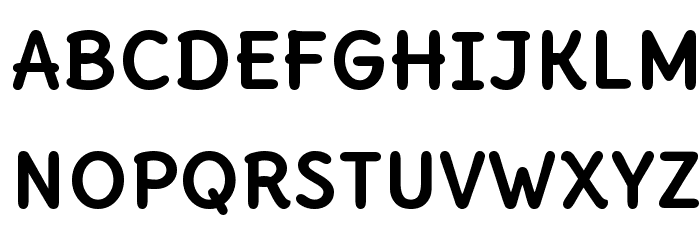 Delius Unicase Bold फ़ॉन्ट अपरकेस