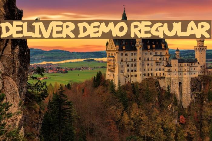 Deliver DEMO Regular Font examples