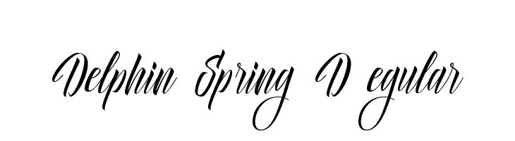 Delphin Spring DEMO Regular  Скачать бесплатные шрифты