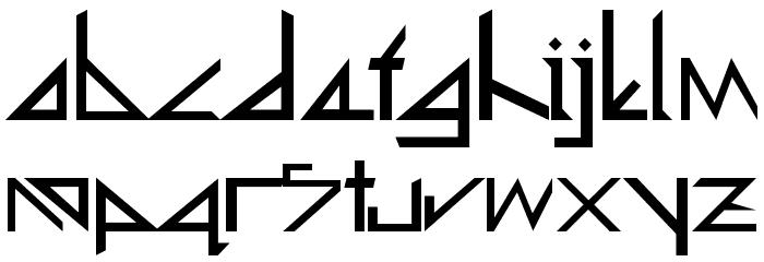 Deltoid Font LOWERCASE