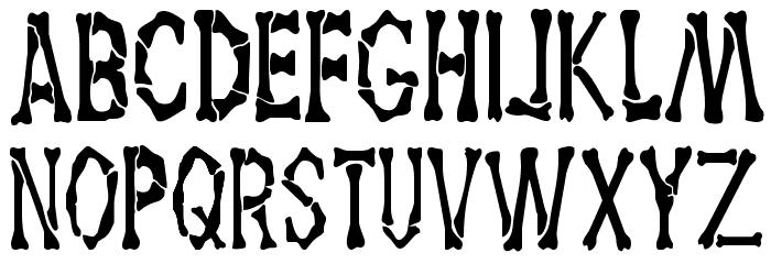 Dem Bones Font UPPERCASE
