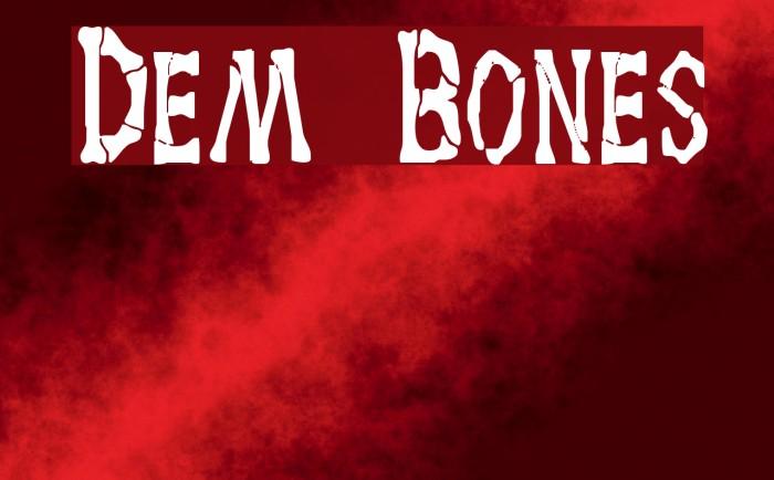 Dem Bones Font examples