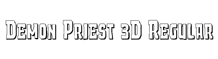 Demon Priest 3D Regular  Free Fonts Download