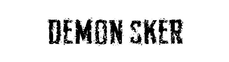 Demon Sker  नि: शुल्क फ़ॉन्ट्स डाउनलोड