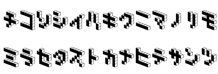 DemonCubicBlock NKP Black Font LOWERCASE