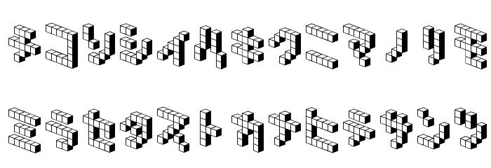 DemonCubicBlock NKP Shade Font LOWERCASE
