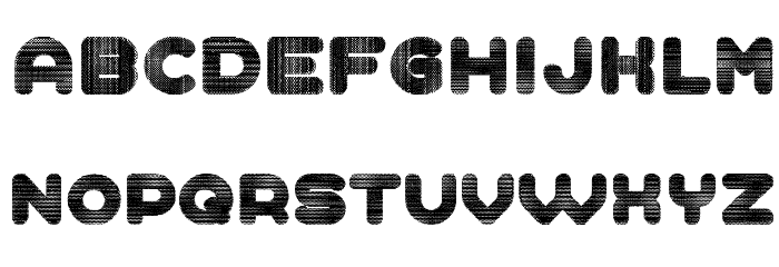 Demonstration Regular Font LOWERCASE
