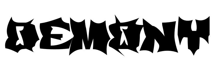 Demony  नि: शुल्क फ़ॉन्ट्स डाउनलोड