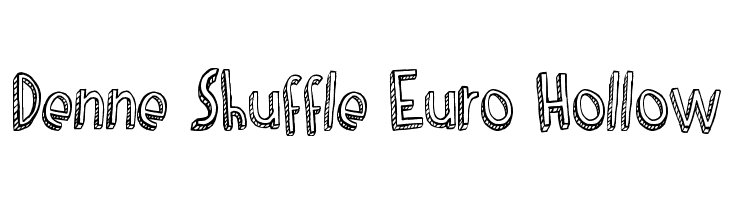Denne Shuffle Euro Hollow  Free Fonts Download