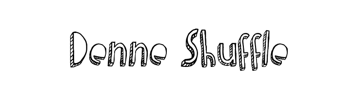 Denne Shuffle  Free Fonts Download