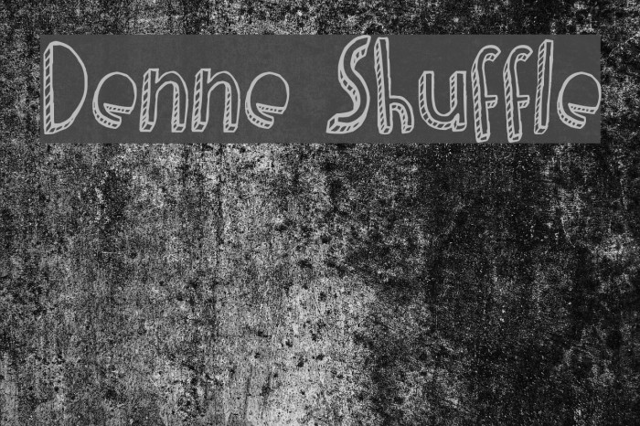 Denne Shuffle Font examples