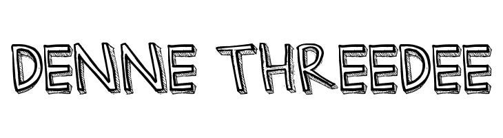 Denne Threedee  Free Fonts Download